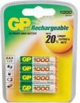 GP Batteries PROFI 4x AAA-Akku 1000mAh Series 1, 2V Micro HR03 Batterie AAA Akku