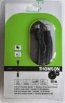 Thomson 10m Antennen-Kabel 75db Koaxial-Kabel Koax-Kabel schwarz für TV LED LCD
