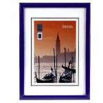 Hama Kunststoff Bilder-Rahmen Madrid Dunkel-blau 13 x 18 cm Foto-Rahmen