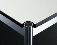 USM Haller Tischplatte 75x75cm für Beistelltisch perlgrau weiß Tisch-Blatt