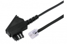 Hama 10m Fax-Kabel Modem-Kabel Telefon-Kabel TAE-N - RJ-11 / RJ-14 6P4C Faxgerät
