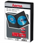 Hama 5x Slim DVD-Hüllen 2 DVDs 2er 2-Fach Leer-Hülle Box CD DVD Blu-Ray Disc