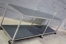 USM Haller Lowboard Regal Medien-Board anthrazitgrau Rollen Sideboard 150er 1, 5m