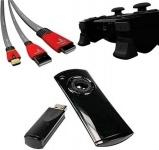 Gioteck PACK Fernbedienung Media Remote + HDMI-Kabel USB Ladekabel für Sony PS3