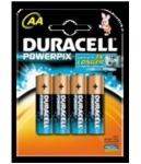 Duracell 4x AA-Batterien POWER-PIX 1.5V Alkaline Batterie LR6 MN-1500 Mignon