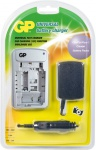 GP Akku Batterie Ladegerät + KFZ für Canon universal IXUS EOS 450D 500D 1000D ..