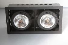 iGuzzini Einbauleuchte Leuchte Trimmer 4607 2x75W BLACK