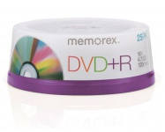 Memorex PACK 25x DVD-Rohlinge 4.7GB 120 Min.16x DVD+R Rohling Leer-DVD Spindel