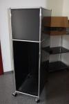 USM Haller Highboard Rollen Computerturm schwarz Regal Ablage Sideboard PC-Turm