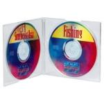 Hama 25x CD-Hüllen 2x CDs CD-ROM Slim Leer-Hülle DVD-Hüllen 25er Pack Jewel Case
