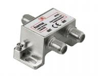 Hama Breitband Kabel-Verteiler 2-fach Splitter GA BK-Anlagen Antenne Kabel