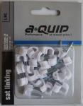 AQUIP Nagelschelle Cable Clamps Kabel Befestigung Halterung 25 Stück