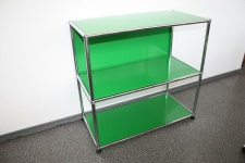 Luxus USM Haller Regal Sideboard grün 75x35x35 2 Fächer
