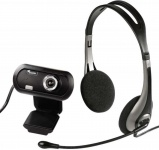 Hama Headset + USB HD Webcam Kamera für Skype MSN ICQ Yahoo Chat YouTube PC etc