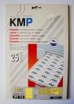 KMP Ordnerrücken Etiketten PT 73 Gelb 100 Stück 190x61 mm nicht durchscheinend