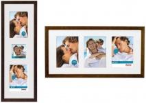 Hama Galerie-Rahmen Cornwall Bilder-Rahmen Foto-Collage Portrait Wand Holz Glas