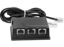 3-Fach ISDN Y-Verteiler 1 auf 3 Splitter RJ45 Kabel 3x Buchse Kupplung NTBA etc