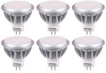6x Patona LED-Lampe MR16 Strahler Reflektor 7, 5W / 55W Kalt-Weiß Leuchtmittel