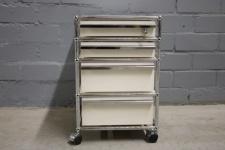 USM Haller Roll-container 4 Schubladen Auszüge weiß für Tisch Sideboard Ablage