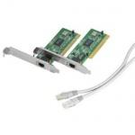 Hama Netzwerk Gamer Set 2x Netzwerk-Karte PCI + 5m Cat5 Crossover-Kabel Cat 5