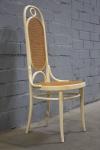 Thonet Nr. 17 Stuhl Hochlehner Chair Holz Geflecht in weiß Jugenstil Art Nouveau