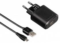 Hama Lade-Set Micro-USB Schnell-Ladegerät 2, 1A 5V Netzteil Netz-Lader USB-Kabel
