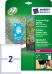 Avery Zweckform 20x Etiketten wetterfest Outdoor Aukleber Beschriftung Schilder