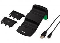 Hama Dual Ladestation Charger + 2x Akku für XBOX One Controller Docking Game-Pad