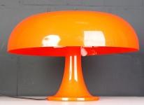 Artemide Milano Nesso by Giancarlo Mattioli Tischleuchte Anrichte Lampe orange