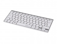 Hama USB Wireless Keyboard Rossano 2.4 GHz Slim Funk Tastatur QWERTZ PC Silber