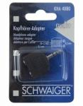 Schwaiger Y-Adapter Kopfhörer-Adapter Splitter 3, 5mm Klinke-Stecker 2x Kupplung