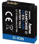 Hama Li-Ion Akku Batterie für Samsung IA-BP125A HMX-M20 Q10 Q20 Q100 Q130 Q200