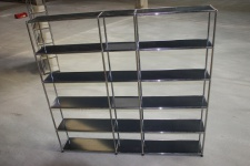 USM Haller Regal Highboard Bücher-Regal 18 Fächer Anthrazitgrau Raumteiler Top