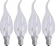 4x PACK GP Halogen-Lampe Windstoß-Kerze E14 30W/40W Flamme Glüh-Lampe Glüh-Kerze