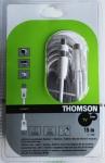 Thomson 15m Antennen-Kabel 80db 100Hz Koaxial-Kabel Koax weiss für TV LED LCD