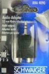 2x Schwaiger KLINKENADAPTER 3, 5mm Klinke - 2 x Kupplung