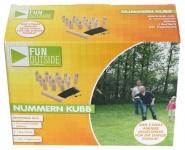 Nummern Kubb-Spiel Wurf-Spiel Kegel-Spiel Spielzeug Holz Garten Outdoor Party