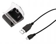 Hama USB Mini Ladegerät Lade-Station Lader für Sony PS4 Controller Game-Pad Akku