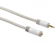 Hama 3, 5mm Klinken-Verlängerung GOLD 2, 5m Stereo Klinken-Kabel Buchse Stecker