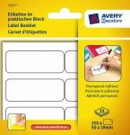 Avery Etiketten-Block Universal Aufkleber 50x19mm weiß Klebe-Zettel Beschriftung