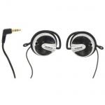 Thomson Clip-On-Kopfhörer HED60 mit Ohrbügel 3, 5mm Klinke 1, 2m Kabel Schwarz