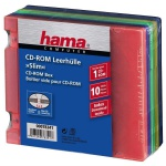 Hama 10x Pack CD-Box Slim CD-Hülle Hüllen PP Aufbewahrung Abheftbar für Ordner