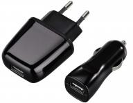Hama Exxter USB-Lade-Set 5V 1A Ladegerät Netzlader KFZ-Lader Netzteil für Handy