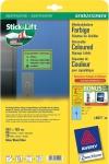 Avery Zweckform 80x Etiketten blau wiederablösbar 99, 1x139 mm Aufkleber Schilder