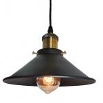 Vintage hängende Pendel-Leuchte Loft-Design schwarz Decken-Lampe Retro Stil E27