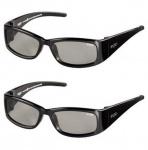 2x PACK EX3D Kinder 3D Brille passiv Polfilterbrille für 3D-TV Beamer Kino RealD