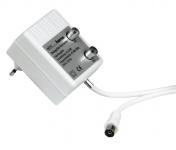 Hama Sat Zweigeräteverstärker 2 x 10 dB 47 - 862 MH Kabel TV tauglich Koax Weiß