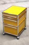 USM Haller Roll-Container gelb 3 Schubladen A7 A6 A5 Schreibtisch Ablage Regal
