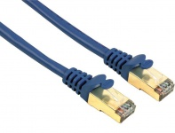 Hama 0, 25m Cat5e GOLD Patch-Kabel Netzwerk-Kabel Cat. 5e 5 Lan-Kabel DSL UTP FTP