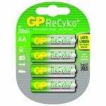 GP Premium Pack 4x AA-Akku ReCyko+ Wiederaufladbar Mignon Batterie AA Accu